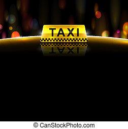 taxi, dienst