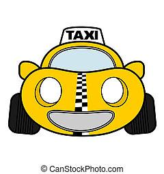 taxi, diversión, amarillo