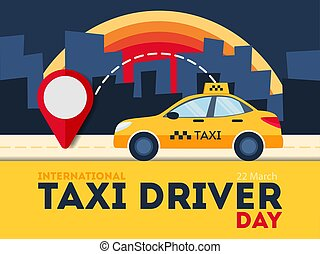 Taxi driver day.