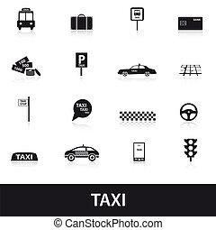 taxi, eps10, iconen