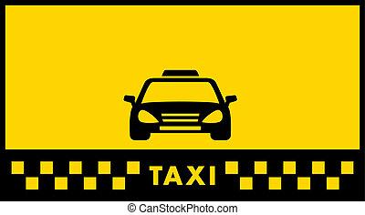 taxi, fondo amarillo