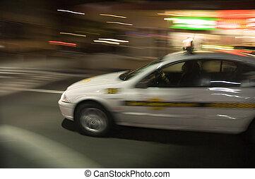 taxi, fortkörning