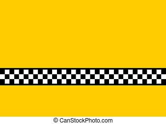 taxi, gele