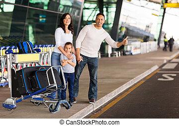 taxi, granizar, familia