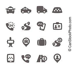 taxi, icônes