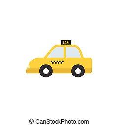 Taxi icon, flat design vector