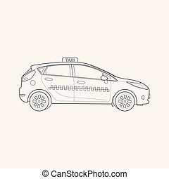 Taxi icon line element. Vector illustration of taxi icon line isolated on clean background for your web mobile app logo design.
