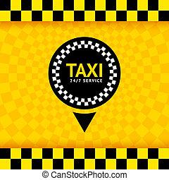 taxi, jelkép, új, háttér, vektor, ábra, 10eps