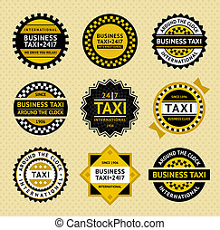 Taxi labels - vintage style