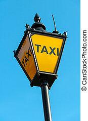 taxi, londres, royaume-uni, signe