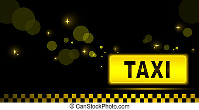 taxi night city background