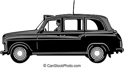 taxi, noir