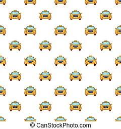 Taxi pattern, cartoon style