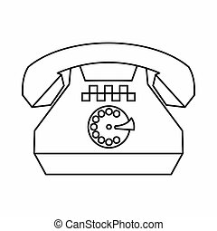 Taxi phone icon, outline style