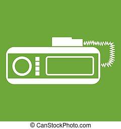 taxi, radio, vert, icône