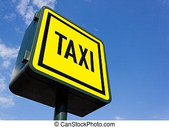 Taxi rank sign