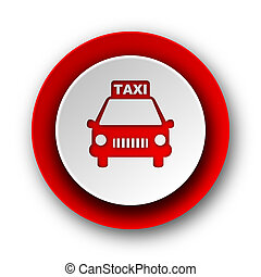 taxi red modern web icon on white background