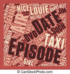 Taxi Season 2 DVD Review text background wordcloud concept