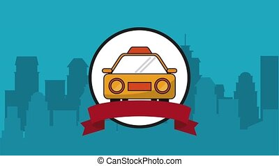 Taxi service symbol HD animation