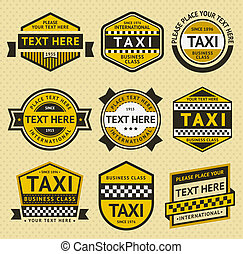 Taxi set insignia, vintage style