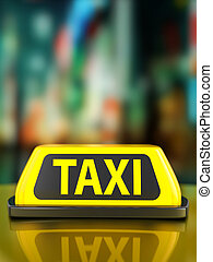 Taxi sign background
