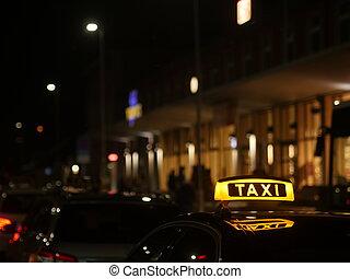 taxi sign German