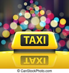 Taxi Sign Illustration