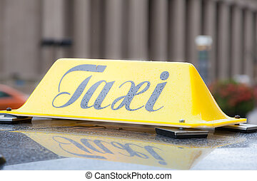 Taxi sign in Toronto