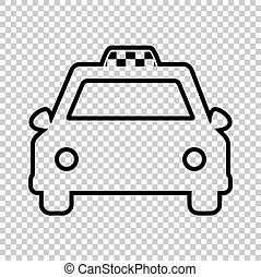 Taxi sign. Line icon