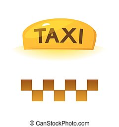Taxi sign, vector illustration