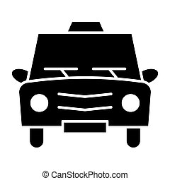 Taxi solid icon. Cab vector illustration isolated on white. Car glyph style design, designed for web and app. Eps 10.