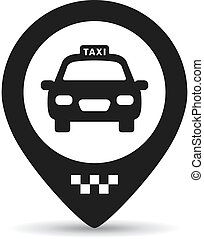 Taxi stop here, location marker