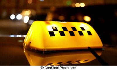Taxi symbol traffic city - Sighn symbol of taxi cab on road...