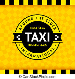Taxi symbol with checkered background - 02