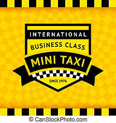 Taxi symbol with checkered background - 04