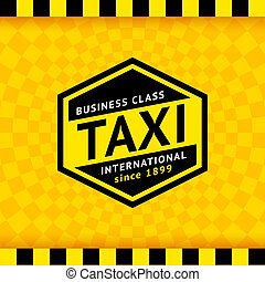 Taxi symbol with checkered background - 20