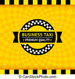 Taxi symbol with checkered background - 01, vector...
