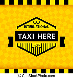 Taxi symbol with checkered background - 05