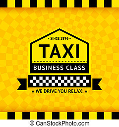 Taxi symbol with checkered background - 06