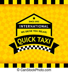 Taxi symbol with checkered background - 12