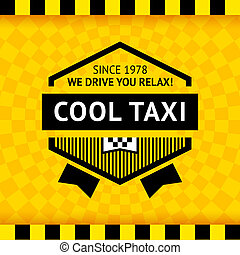 Taxi symbol with checkered background - 16