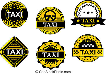 taxi, symboles, service