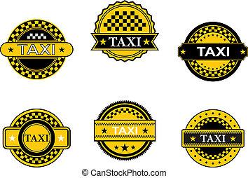 taxi, symboles, signes