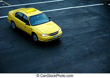 taxi taxi, jaune