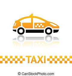 taxi, taxi, símbolo
