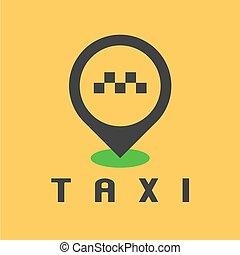 taxi, taxi, vecteur, conception, logo