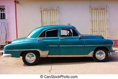 taxi,  Trinidad, vieux, voiture,  cuba