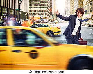 taxi, város