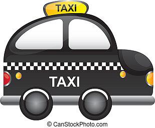 taxi vector - black taxi cartoon with tranparency vector...