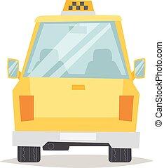 taxi, vector, illustration., amarillo